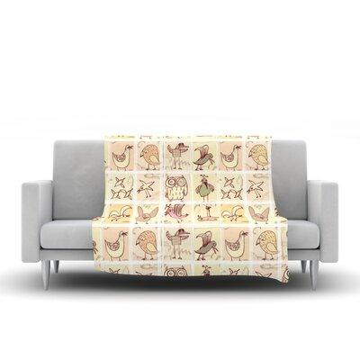 Birdies Throw Blanket by KESS InHouse