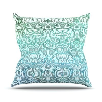 Clouds In The Sky Throw Pillow by KESS InHouse