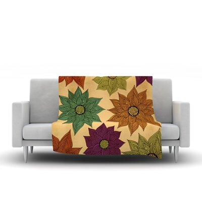 Color Me Floral Throw Blanket by KESS InHouse