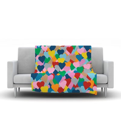 More Hearts Throw Blanket by KESS InHouse