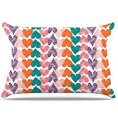 Hearts Pillowcase by KESS InHouse