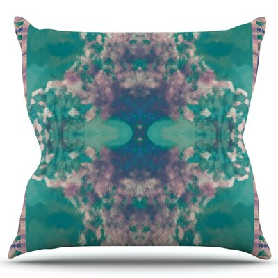 Ashby Blossom Teal Throw Pillow by KESS InHouse