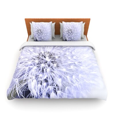 Lavender Wish by Debbra Obertanec Woven Duvet Cover by KESS InHouse