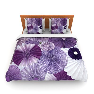 Lavender Wishes by Heidi Jennings Woven Duvet Cover by KESS InHouse