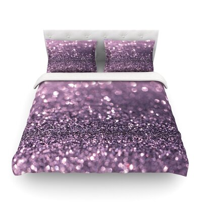 Lavender Sparkle by Debbra Obertanec Light Duvet Cover by KESS InHouse