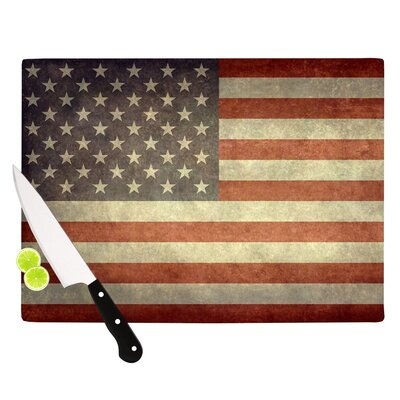 Flag of US Retro by Bruce Stanfield Rustic Cutting Board by KESS InHouse