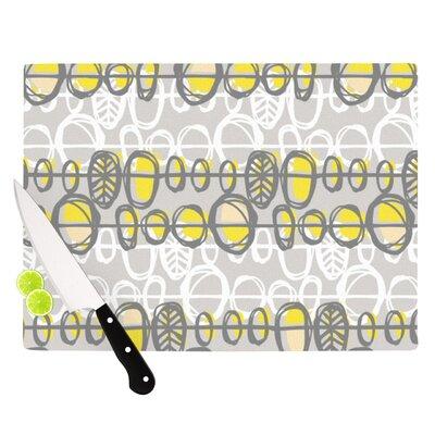 Benin Yellow Grey by Gill Eggleston Cutting Board by KESS InHouse