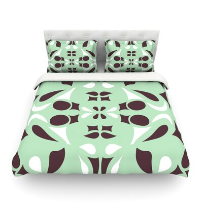 Swirling Teal Light by Miranda Mol Cotton Duvet Cover by KESS InHouse
