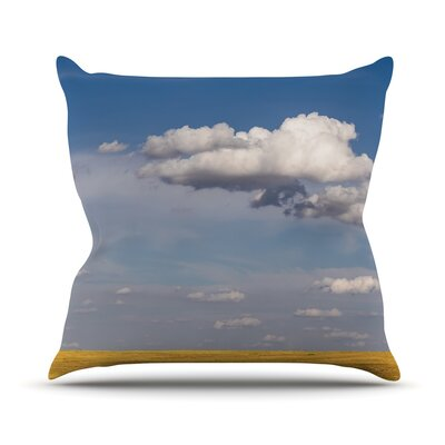Big Sky by Ann Barnes Clouds Throw Pillow by KESS InHouse