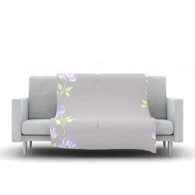 Flower II by Louise Fleece Throw Blanket by KESS InHouse