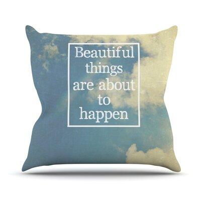 Beautiful Things by Rachel Burbee Sky Clouds Throw Pillow by KESS InHouse