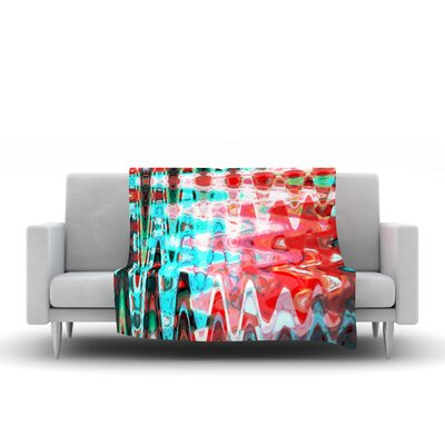 Aqua Wave by Suzanne Carter Fleece Throw Blanket by KESS InHouse