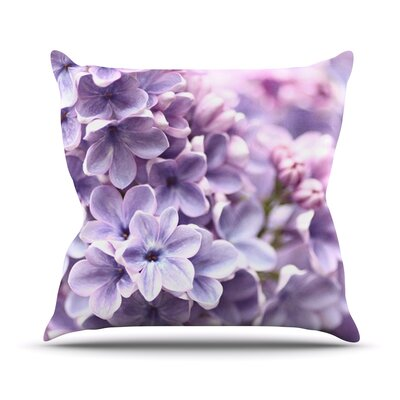 Lilac by Sylvia Cook Flowers Throw Pillow by KESS InHouse