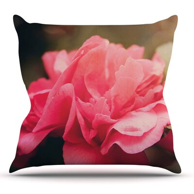 Camelia by Angie Turner Flower Throw Pillow by KESS InHouse