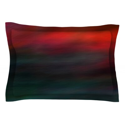 Haunted by Robin Dickinson Teal Cotton Pillow Sham by KESS InHouse