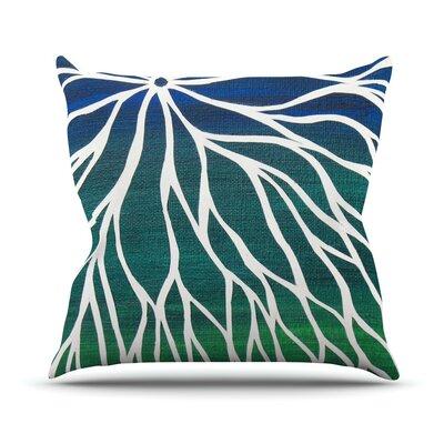 Ocean Flower Throw Pillow by KESS InHouse