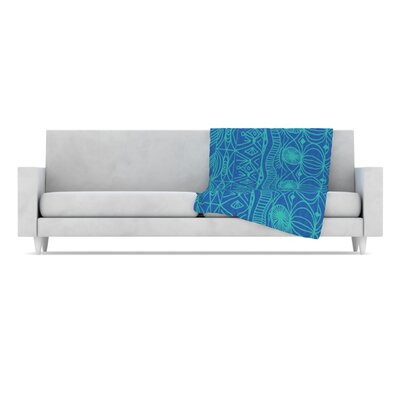 Beach Blanket Confusion Throw Blanket by KESS InHouse