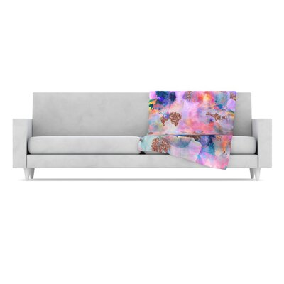 Sparkle Mist Fleece Throw Blanket by KESS InHouse