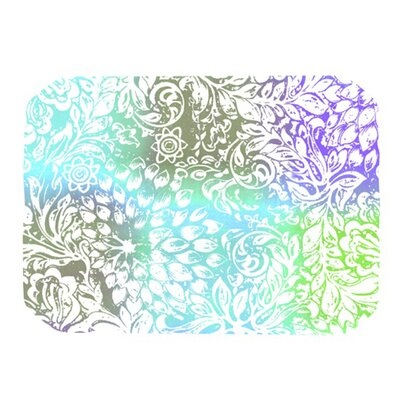 Blue Bloom Softly for You Placemat by KESS InHouse