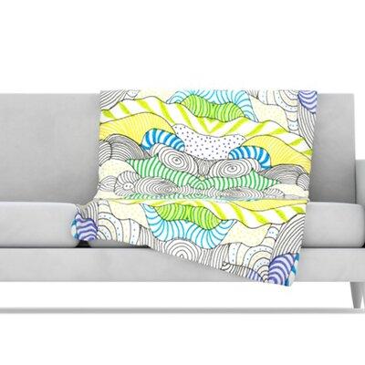 KESS InHouse Wormland Fleece Throw Blanket