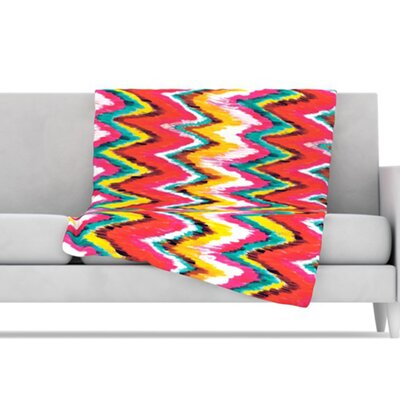 KESS InHouse Painted Chevron Throw Blanket