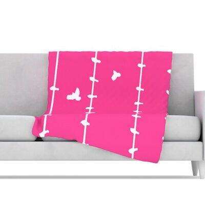 Birds Throw Blanket by KESS InHouse