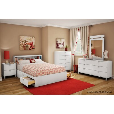 South Shore Sparkling 2 Drawer Nightstand