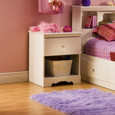 South Shore Crystal 1 Drawer Nightstand 3550 062