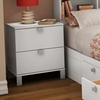 South Shore Sparkling 2 Drawer Nightstand 3260060