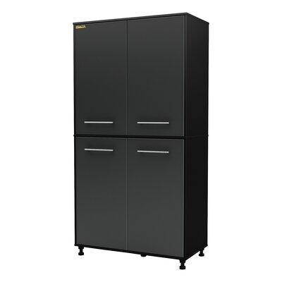 """South Shore Karbon 76"""" H x 39.5"""" W x 19.5"""" D Storage Cabinet"""