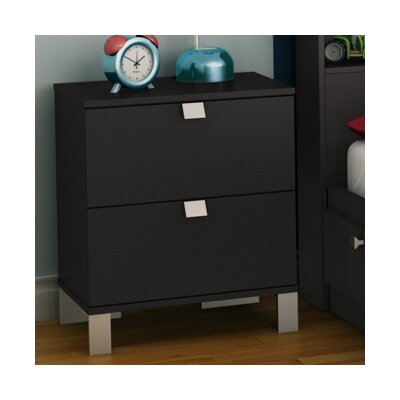 South Shore Spark 2 Drawer Nightstand Nightstand 3270060