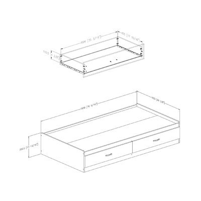 South Shore Logik Twin Mates Storage Bed Box