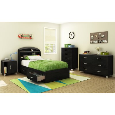 South Shore Lazer Twin Storage Mate's Customizable Bedroom Set Collection 9005080