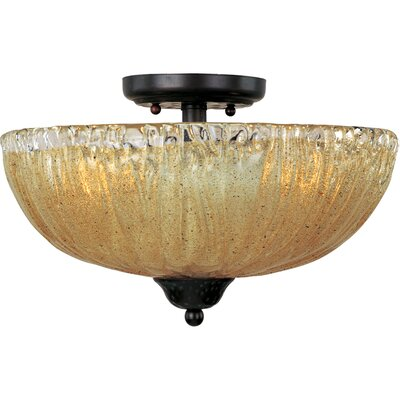 Barcelona 3-Light Semi-Flush Mount Product Photo