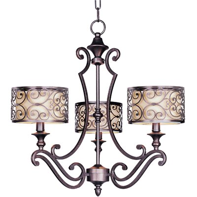 Mondrian 3-Light Chandelier by Maxim Lighting