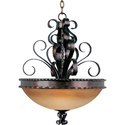 Aspen 3-Light Invert Bowl Pendant by Maxim Lighting