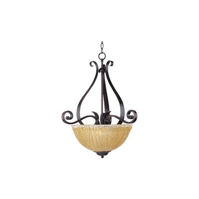 Barcelona 3-Light Invert Bowl Pendant by Maxim Lighting