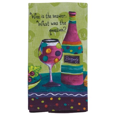 Wine Is the Answer What was the Question Kitchen Terry Towel by Kay Dee Designs ...