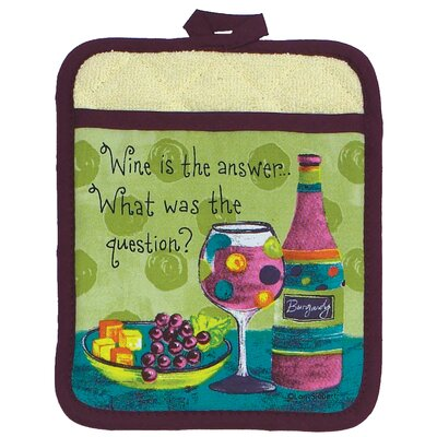 Wine or Grapes Design Oven Mitt by Kay Dee Designs