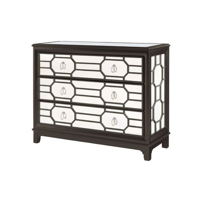 Hidden Treasures 3 Drawer Mirrored Hall Chest by Hammary