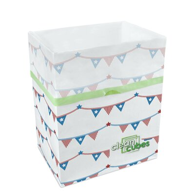 10-Gal 4th of July Recycling Waste Basket by Clean Cubes LLC
