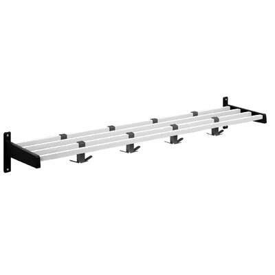 Hook Style Coat Rack with Aluminum Shelf Bars by Magnuson Group