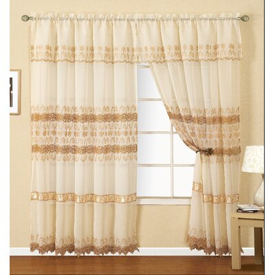 Joyce Macrame Single Curtain Panel Product Photo