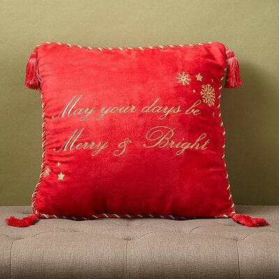 Christmas 2015 Merry and Bright Decorative Throw Pillow by Dainty Home