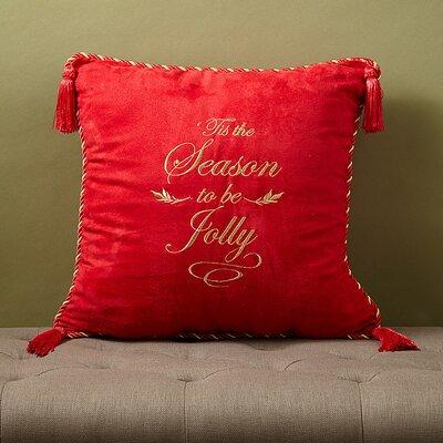 Christmas 2015 Season Jolly Decorative Throw Pillow by Dainty Home