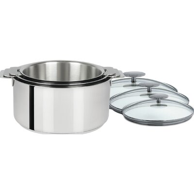 3 Piece Saucepan with Lid by Cristel