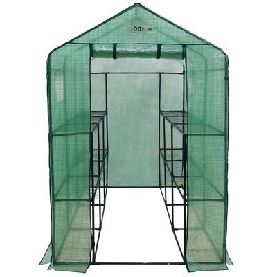 4 Ft. W x 8 Ft. D Plastic Greenhouse by OGrow