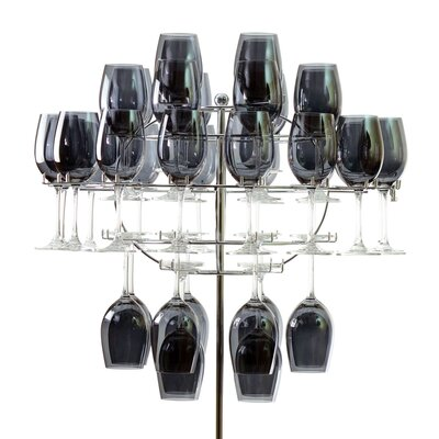 Ten Strawberry Street Chandelier 40 Bottle Tabletop Wine Glass Rack