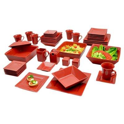 Nova 45 Piece Square Dinnerware Set by Ten Strawberry Street