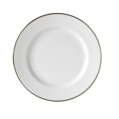 "Ten Strawberry Street Silver Line 7.5"" Salad / Dessert Plate"